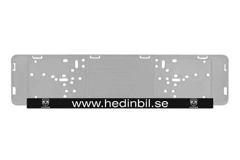Displayteline lattia, kirkas akryyli logolla