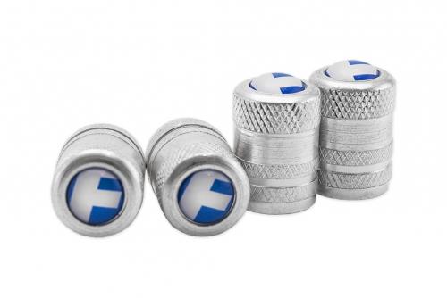Alumiiniset venttiilihatut 3D-merkkilogolla
